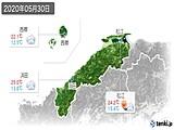2020年05月30日の島根県の実況天気