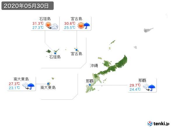 沖縄地方(2020年05月30日の天気