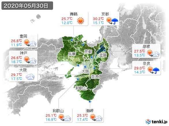 近畿地方(2020年05月30日の天気