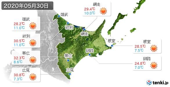 道東(2020年05月30日の天気
