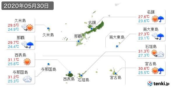 沖縄県(2020年05月30日の天気