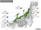 2020年05月31日の北陸地方の実況天気