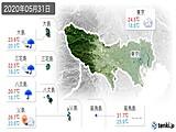 2020年05月31日の東京都の実況天気