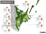 2020年05月31日の道東の実況天気