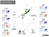 2020年05月31日の沖縄県の実況天気