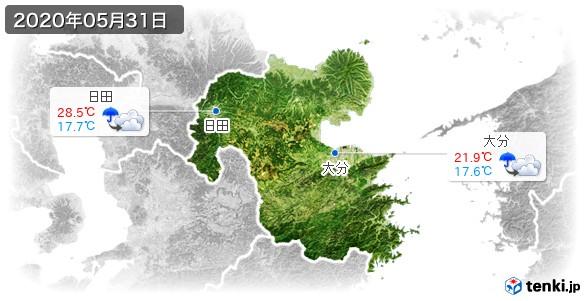 大分県(2020年05月31日の天気