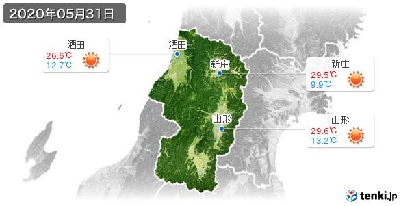 山形県(2020年05月31日の天気