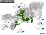 2020年06月01日の東海地方の実況天気