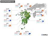 2020年06月01日の九州地方の実況天気