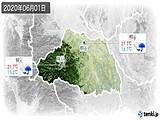 2020年06月01日の埼玉県の実況天気