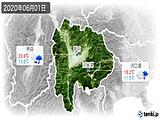 2020年06月01日の山梨県の実況天気