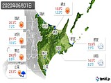 2020年06月01日の道東の実況天気