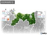 2020年06月01日の鳥取県の実況天気