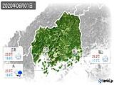 2020年06月01日の広島県の実況天気