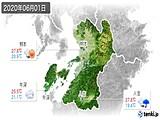 2020年06月01日の熊本県の実況天気