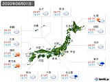2020年06月01日の実況天気