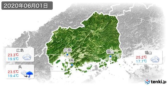 広島県(2020年06月01日の天気