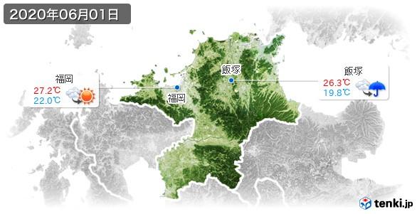 福岡県(2020年06月01日の天気