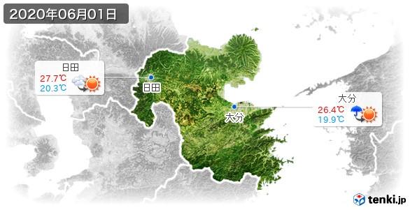 大分県(2020年06月01日の天気