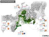 2020年06月02日の東海地方の実況天気