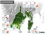 2020年06月02日の静岡県の実況天気