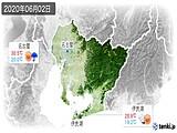 2020年06月02日の愛知県の実況天気