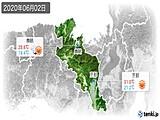 2020年06月02日の京都府の実況天気