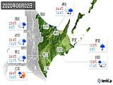 2020年06月02日の道東の実況天気