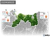 2020年06月02日の鳥取県の実況天気