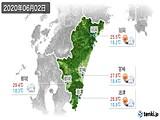 2020年06月02日の宮崎県の実況天気