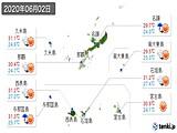 2020年06月02日の沖縄県の実況天気