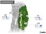 2020年06月02日の岩手県の実況天気
