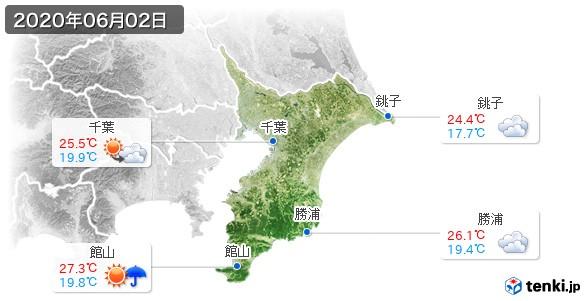 千葉県(2020年06月02日の天気