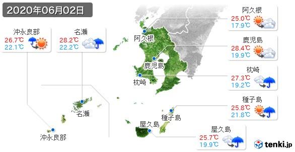 鹿児島県(2020年06月02日の天気