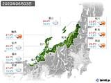 2020年06月03日の北陸地方の実況天気
