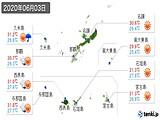 2020年06月03日の沖縄県の実況天気
