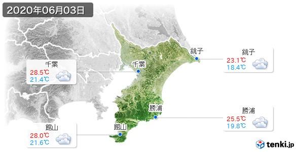 千葉県(2020年06月03日の天気