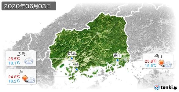 広島県(2020年06月03日の天気