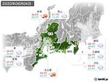 2020年06月04日の東海地方の実況天気