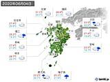 2020年06月04日の九州地方の実況天気