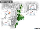 2020年06月04日の三重県の実況天気