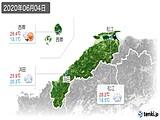 2020年06月04日の島根県の実況天気