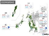 2020年06月04日の長崎県の実況天気