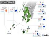 2020年06月04日の鹿児島県の実況天気