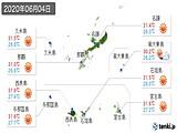 2020年06月04日の沖縄県の実況天気