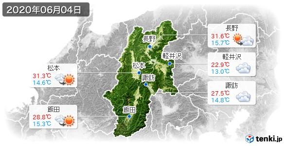 長野県(2020年06月04日の天気