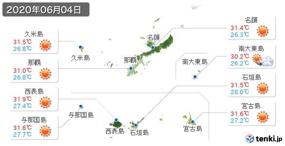 沖縄県(2020年06月04日の天気