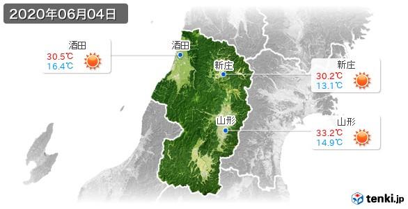 山形県(2020年06月04日の天気