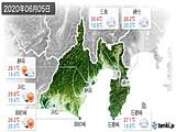 2020年06月05日の静岡県の実況天気