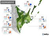 2020年06月05日の道東の実況天気
